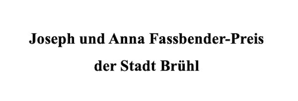 Joseph und Anna Fassbender Preis